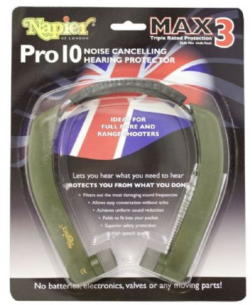 GENUINE NAPIER PRO 10 MAX 3 EAR DEFENDERS HEARING PROTECTION NOISE CANCELLING